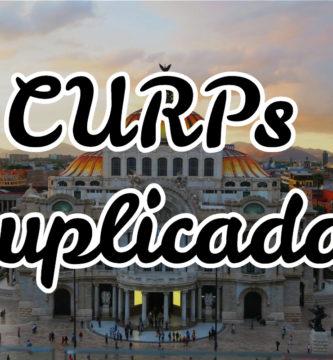 CURPs duplicadas