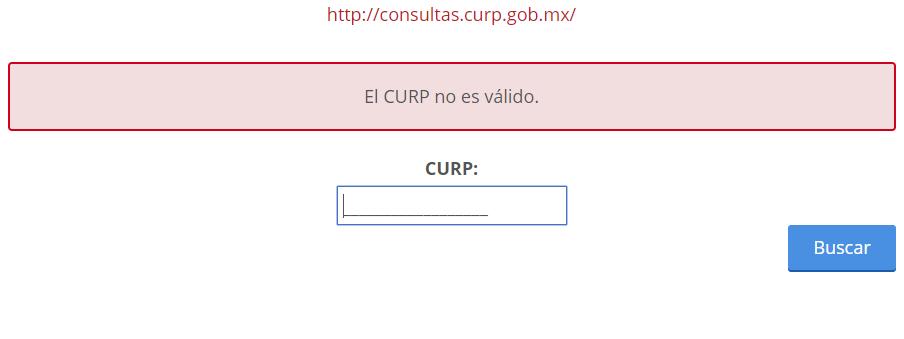 CURP para Registro en ISSSTE