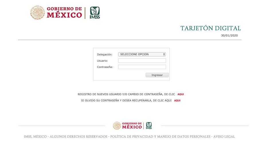 Portal oficial del IMSS