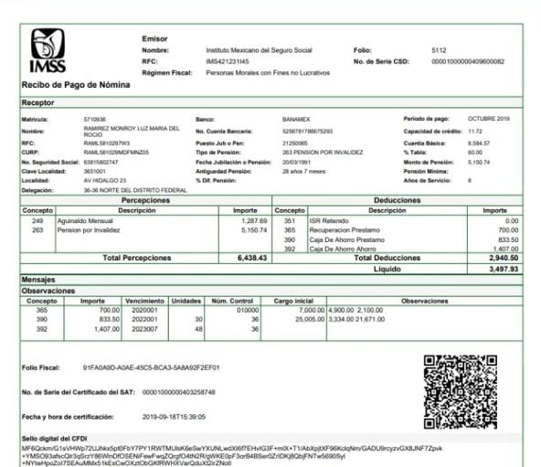 Descarga el tarjetón de pago del IMSS (Activos y Jubilados) 5