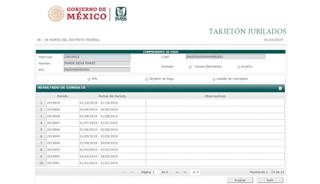 Descarga el tarjetón de pago del IMSS (Activos y Jubilados) 3
